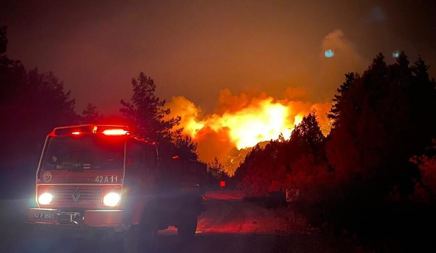 Лесные пожары в Анталье